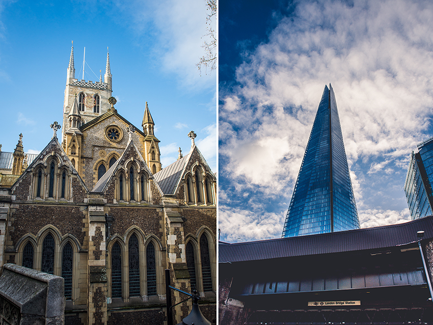 Southwark Cathedral und The Shard - London - Sandra Klary Fotografie
