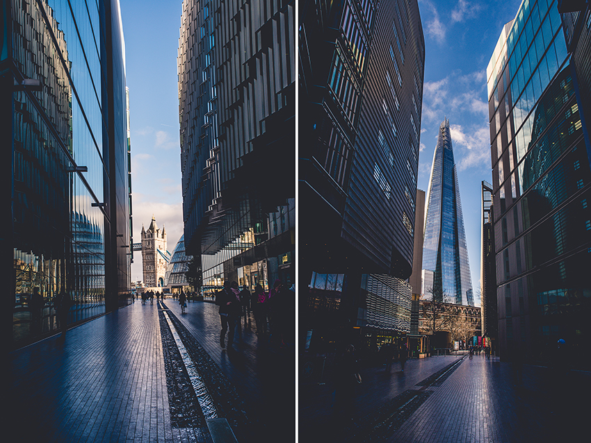 Tower Bridge und The Shard vom More London Riverside gesehen - London - Sandra Klary Fotografie
